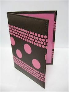 Pink Champagne Bliss Passport Wallet (Leather Hlolder)