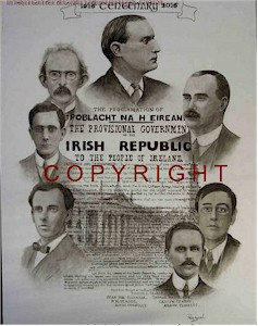 Easter Rising 1916 Leaders Large Print
