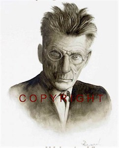 Samuel Beckett Monochrome Portrait