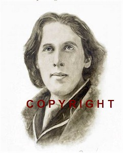 Oscar Wilde Monochrome Portrait