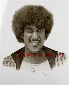 Phil Lynott Portrait Signed Ltd Edition