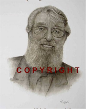 Ronnie Drew Portrait Signed Ltd Edition