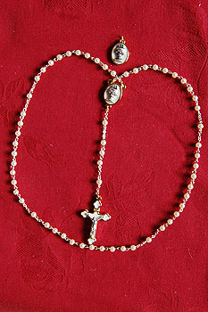 White Communion Rosary Beads (and Medal Set)