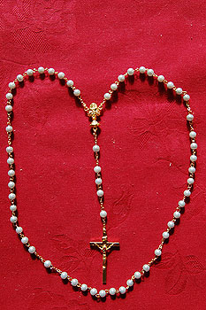 Rosary Beads Set Blue (Pearl Style Beads)