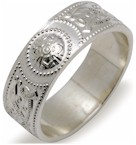 Gents Celtic Warrior Shield Sterling Silver Ring