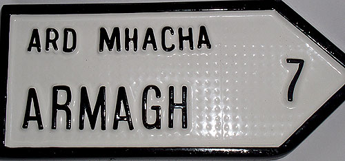 Armagh Antique Style (Old Irish Road Sign)