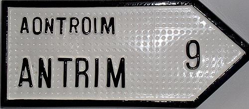 Antrim Antique Style (Old Irish Road Sign)