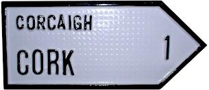 Cork Antique Style 1 Mile (Old Irish Road Sign)