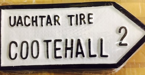 Cootehall Old Style Road Sign