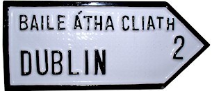County Road Signs Dublin Antique Style Irish Handpainted