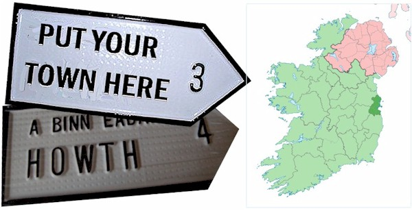 Do we have your NORTH DUBLIN Town ROAD SIGN?