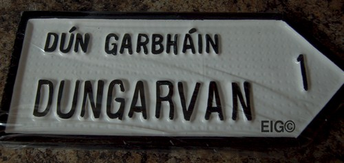 Dungarvan Old Style Road Sign
