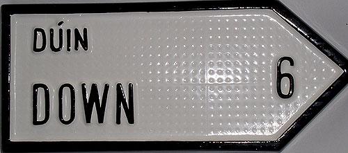 Down Antique Style (Irish handpainted Road Sign)