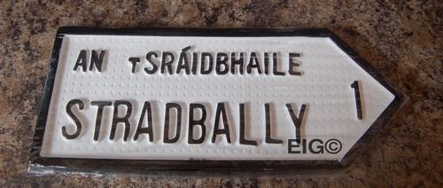 Stradbally Old Style Road Sign