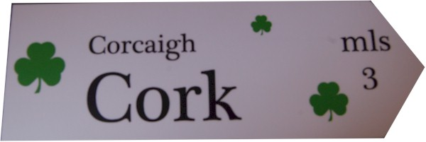 Irish Wooden Road Sign for Waterford town (Celebrate your Irish Heritage)