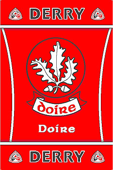 Ulster County Gaa Rugs Derry Gaa County Crest Irish