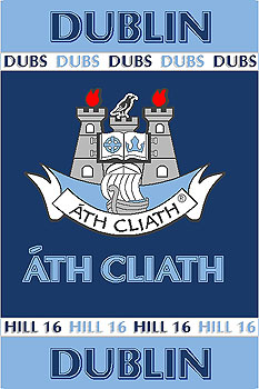 Leinster County GAA Rugs - Dublin GAA County Crest - Irish County Rug