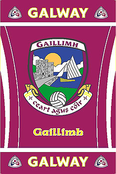 Galway GAA County Crest - Irish County Rug