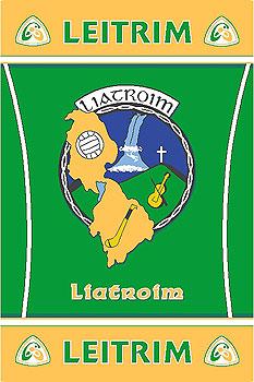 Leitrim GAA County Crest - Irish County Rug