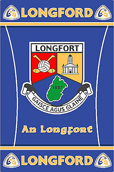 Longford GAA County Crest - Irish County Rug