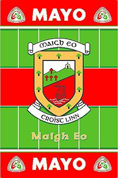 Mayo GAA County Crest - Irish County Rug