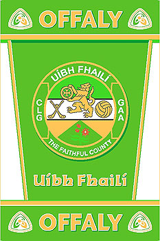 Offaly GAA County Crest - Irish County Rug