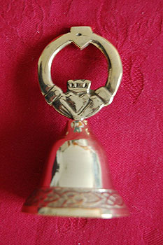 Irish Brass Bell with Claddagh Design