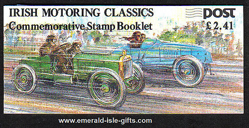 Sb32 (sg) 1989 Irish Motoring Classics £2.41 Booklet