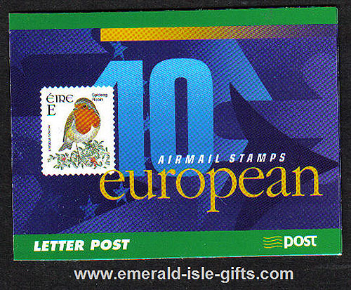 Sb91 (sg) 2001 Birds ?.20 Booklet European Airmail