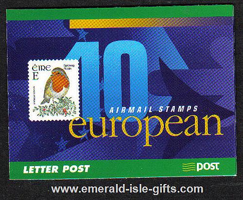 Sb91 (sg) 2001 Birds ?.20 Booklet European Airmail