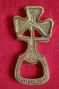 Irish Shamrock Brass Bottle Opener