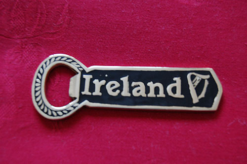 Irish Brass Bottle Opener Black