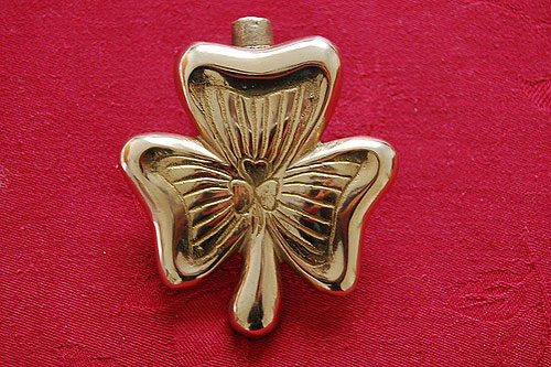 Irish Shamrock Brass Door Knocker