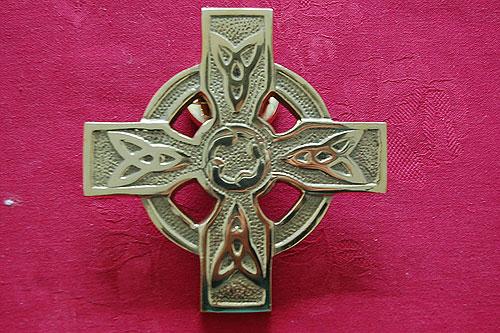 Merveilleux Celtic Cross Round Door Knocker
