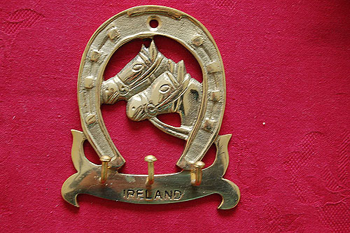 Horses Head Brass Key Rack