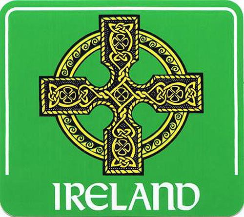 Celtic Cross Green Irish Car