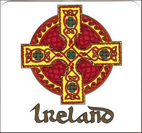 Ireland Celtic Cross Irish Car