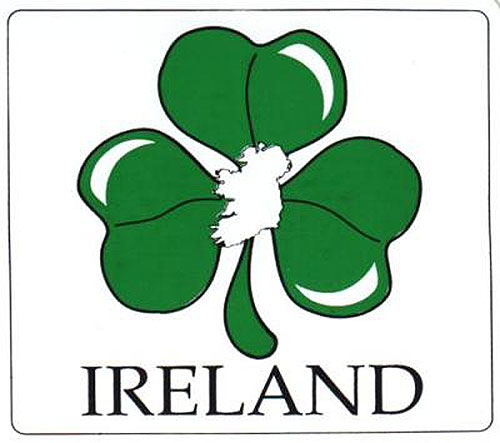 Shamrock & Ireland Map Irish Car