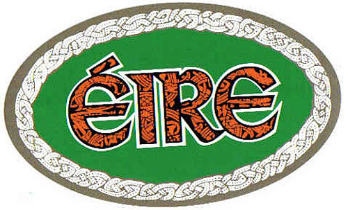 Ireland Eire Green Oval Irish Car
