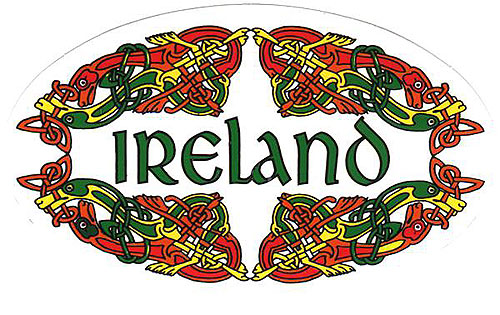 Ireland Celtic Oval Irish Car