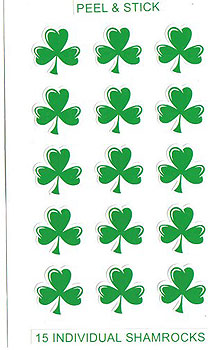 15 Individual Irish Shamrock