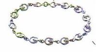 Silver Irish Claddagh Love Bracelet (Hallmark silver)