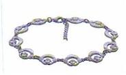 Sterling Silver Nua Claddagh Bracelet (Irish Love Bracelet)