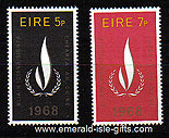 Ireland 1968 Human Rights Set Of 2 Mnh