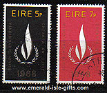 Ireland 1968 Human Rights Set Of 2 Used