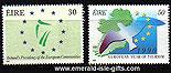 Ireland 1990 Eu President/ Year Of Tourism Mnh Set Of 2