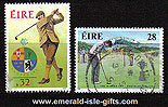 Ireland 1991 Golf Walker Cup Used Set Of 2