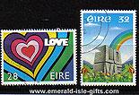 Ireland 1992 Love Stamp Used Set Of 2