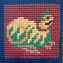 Cat from Book Of Kells Cross Stitch (Pattern & Kit available)