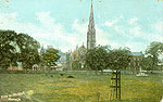 Armagh - Armagh Town - View on the Mall (old colour Irish photo)